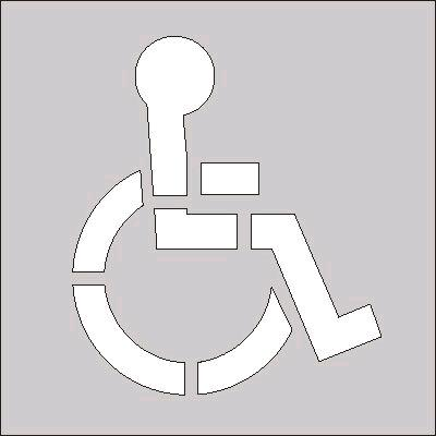 Where to find HANDICAP STENCIL FOR STRIPER PARKING LOT in Portland