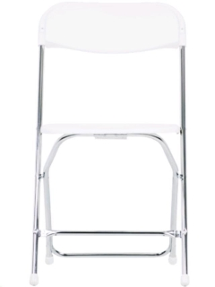Rental store for WHITE PLASTIC ALUMINUM CHAIR in Portland OR