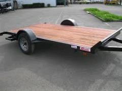 Rental store for TRAILER, FLATBED 12  SINGLE AXLE TILT in Portland OR