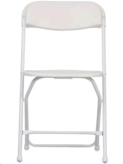 Where to rent PLASTIC FOLDING CHAIR, WHITE in Portland OR