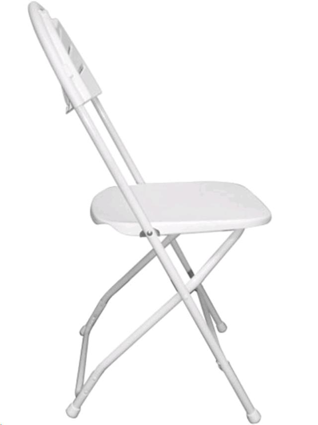 ... WHITE FANBACK PLASTIC FOLDING CHAIR In Portland. Image For Reference  Only. Actual Item May Look Different. Click On Image For Larger View