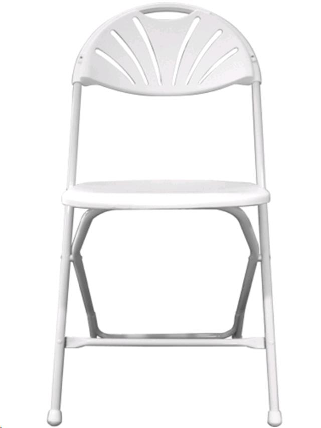 Where to find WHITE FANBACK PLASTIC FOLDING CHAIR in Portland
