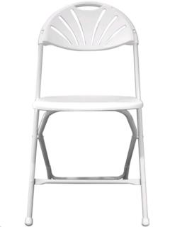 Where to rent WHITE FANBACK PLASTIC FOLDING CHAIR in Portland OR