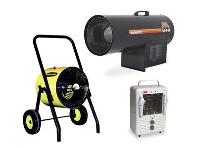Rent HEATERS AND COOLING EQUIPMENT